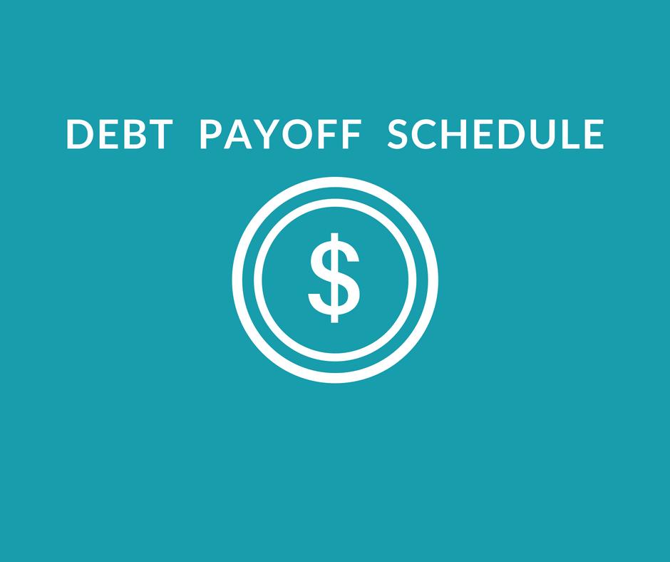 free debt payoff schedule spreadsheet money after graduation