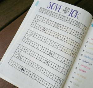 bullet journal save my way to 10k