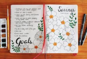 bullet journal saving page 3