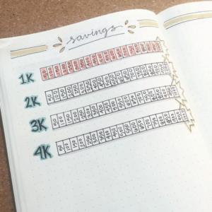 bullet journal saving page 10